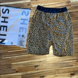 🖤 Shein Cheetah Bicycle Shorts